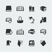 Vector Books And Reading Mini Icons Set poster