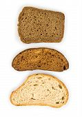Tasty sliced bread. Isolated on a white background.
