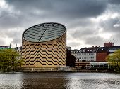 stock photo of planetarium  - The modern planetarium in Copenhagen in Denmark - JPG