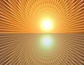 pic of wane  - Space warp travel through orange gold abstract universe - JPG