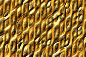 image of cell block  - Abstract textured metallic background with the shiny cells relief pattern - JPG