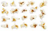 stock photo of popcorn  - Full bucket of popcorn - JPG