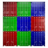 3d rendering of a shipping 20ft container