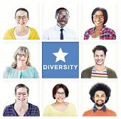 Portrait of Multiethnic Colorful Diverse People