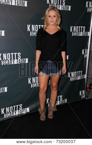 LOS ANGELES - OCT 3:  Cassi Thomson at the Knott's Scary Farm Celebrity VIP Opening  at Knott's Berry Farm on October 3, 2014 in Buena Park, CA