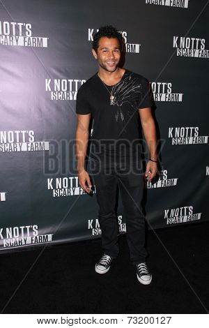 LOS ANGELES - OCT 3:  Corbin Bleu at the Knott's Scary Farm Celebrity VIP Opening  at Knott's Berry Farm on October 3, 2014 in Buena Park, CA