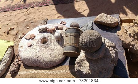 Household items Bedouin in the desert of   Jordan