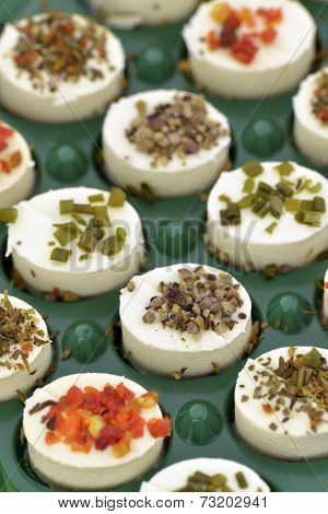 Cheese Appetizers Decorated With Spices