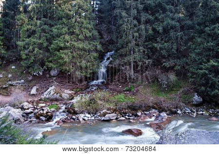 Waterfall In Grigorevsky Gorge