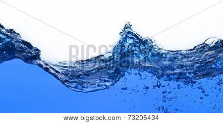 Water And Air Bubbles Over White Background. Fresh Photograph