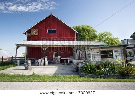 Barn With Awning