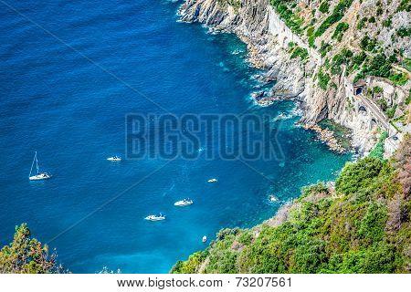 Riomaggiore Coast Cinque Terre Italy
