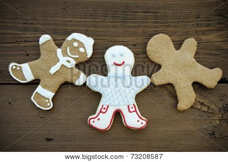 Three Happy Ginger Bread Man