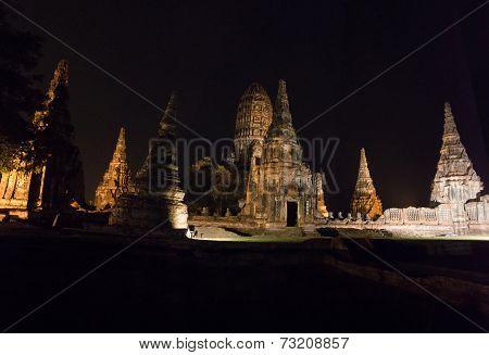 Wat Chaiwatthanaram In The Ayutthaya Historical Park