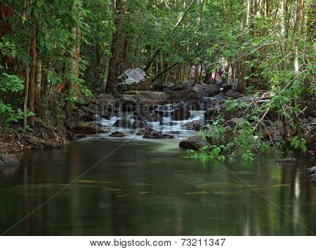 Water flowing in Florence Creek Litchfield National Park, Australia
