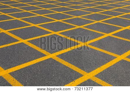 Yellow Square Pattern