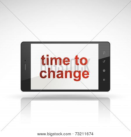 Time To Change Words On Mobile Phone
