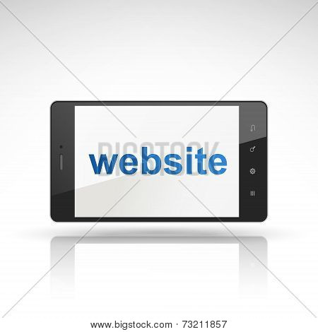 Website Word On Mobile Phone