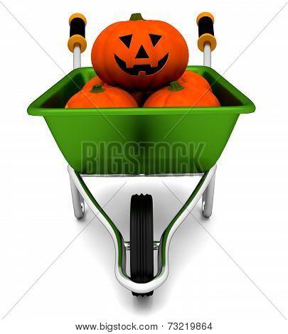 Halloween Wheelbarrow