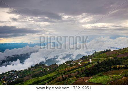 Mountain Road At In Phu Hin Rong Kla National Park (phu Tubberk)