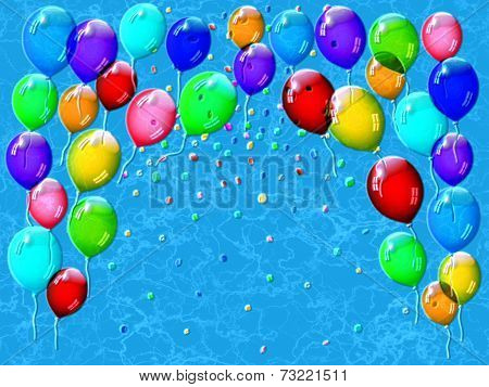 Confetti Relief Painting On Generated Marble Texture Background