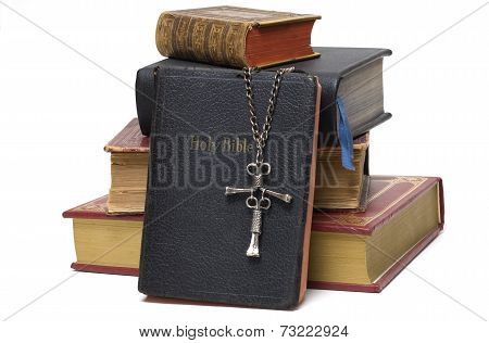 Religious Books and Cross