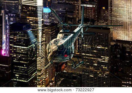 Helicopter Manhattan Skyline