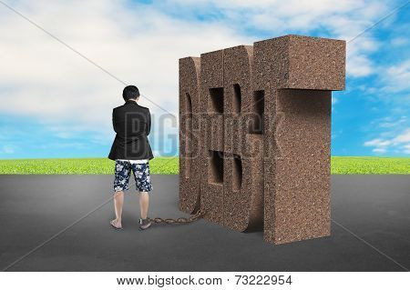 Man Shackled By Rusty Debt