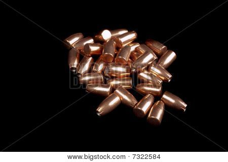 9Mm Bullets On Black