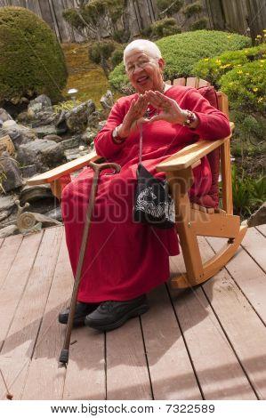 Elderly African American Woman