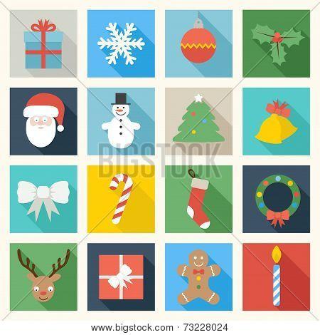 Colorful Christmas Icons