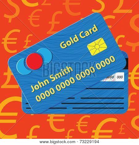 Vector credit card illustration.