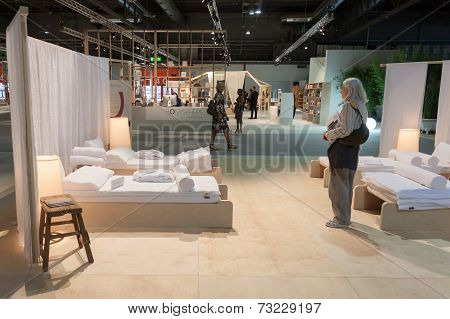 People Visiting Homi, Home International Show In Milan, Italy