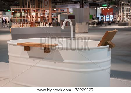 Bath Tub On Display At Homi, Home International Show In Milan, Italy