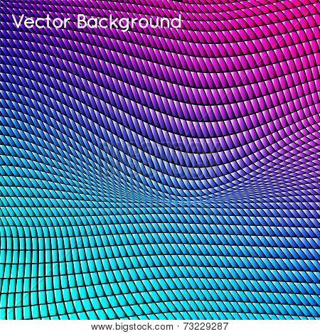Abstract grid rainbow background.