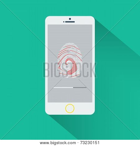 Mobile phone with fingerptint