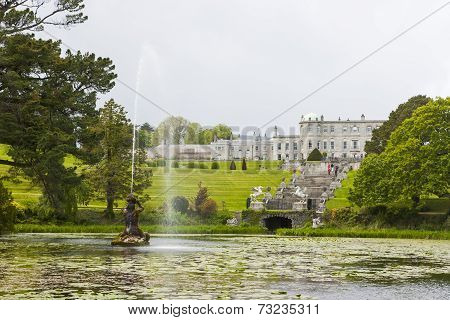 Enniskerry, Ireland - May 1: Fountain Of The Triton Lake At Powerscourt State In  Sniskerry, Ireland