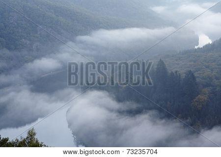 Mettlach - Saar Loop At Sunrise
