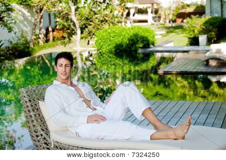 Man On Daybed