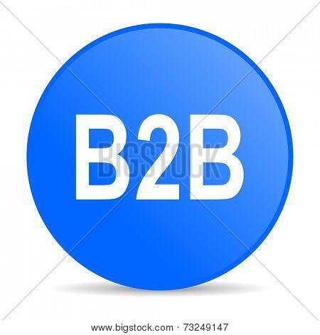 b2b internet blue icon