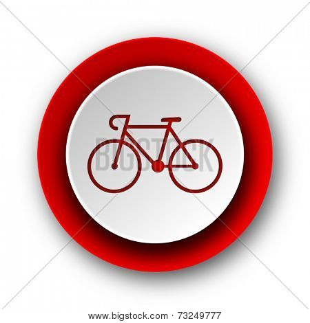 bicycle red modern web icon on white background