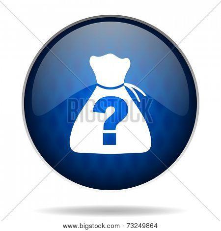 suprise internet blue icon