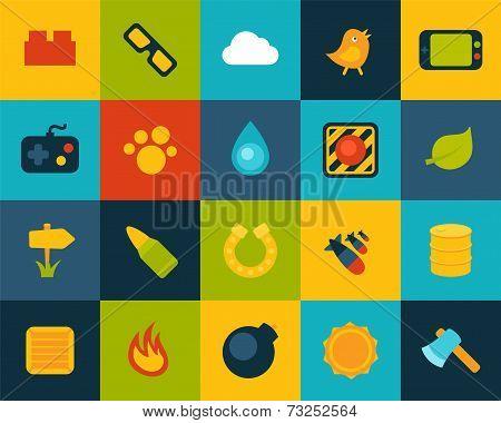 Flat icons set 4
