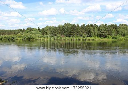 Landscape riverbank Kahn