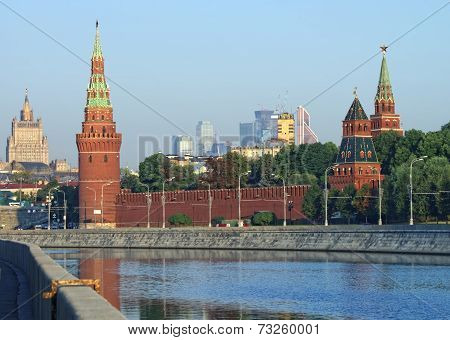 Moscow Kremlin And Skyline View