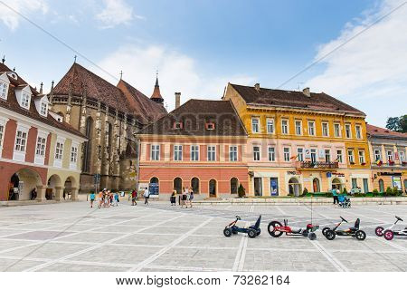 Council Square On July 15, 2014 In Brasov, Romania.