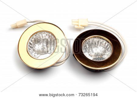 Two Gold Spotlights