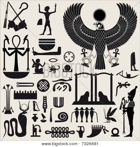 Egyptian Symbols And Sign Set2