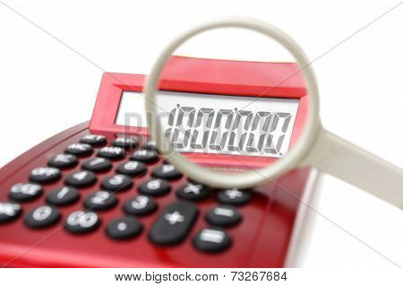 Fraud Concept With Magnifier And Calculator