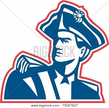American Patriot Soldier Bust Retro
